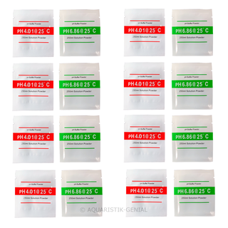 pH Kalibrierlösung / Pufferlösung im Set - 8x Kalibrierungslösungs Set