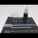 CO2 Dauertest mit Glas und Testflüssigkeit